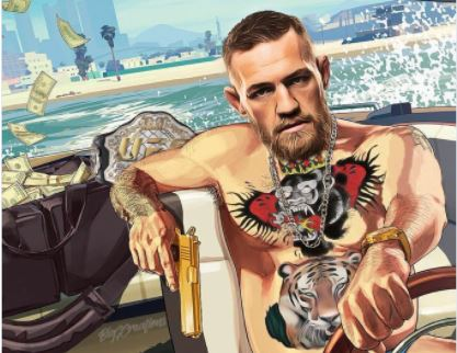 Conor McGregor et Tony Ferguson en mode Grand Theft Auto