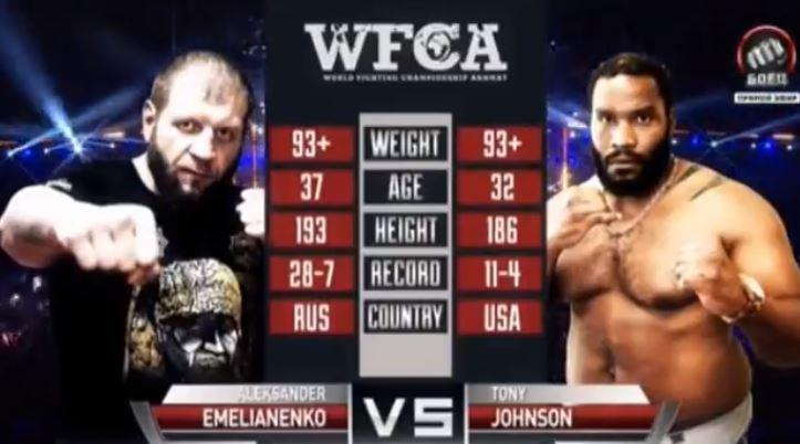 (Vidéo) WFCA 50: Alex Emelianenko vs Tony Johnson Jr