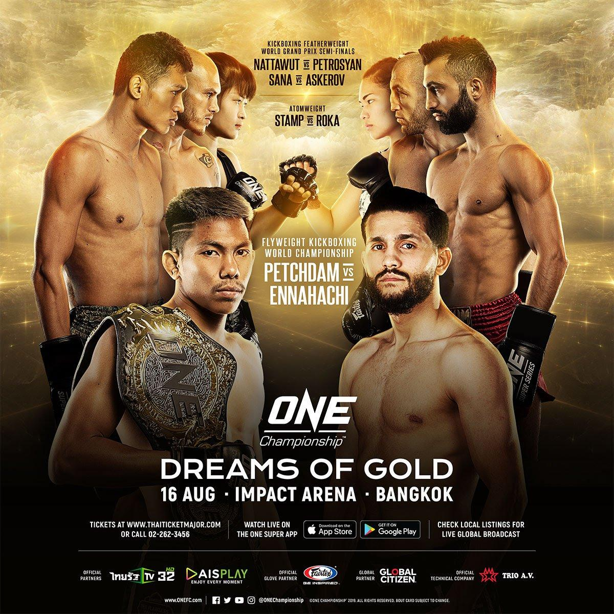ONE FC Bangkok [16/08/2019]: Kickboxing Feather Weight GP 1/2 Finales